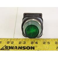 Allen Bradley 800T-QH2G/V Universal LED Pilot Light 130V Green Lens