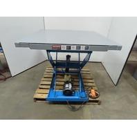 "Bishmon 2000Lbs. 1 Ton 115V Hydraulic Scissor Lift Table 48""x48"" Top 9""-38"" Lift"