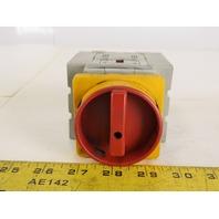 Allen Bradley 194E-A80-1753/B Red On Off Switch 3 Pole Series B