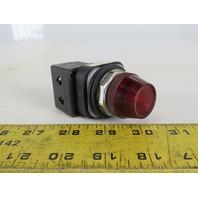 Allen Bradley 800T-QH2R Pilot Light 130V Red Lens Has No Bulb Series V