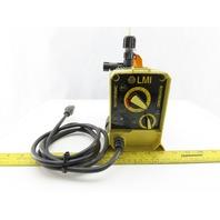 LMI Roytronic A141-812NI Metering Pump 120V 1/2 GPH 250PSI