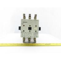 Siemens 3TF52 3 Pole Contactor 200A 600VAC