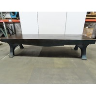 "Webbed Cast Iron Lay Out/Jig/Welding/Work Table Bench 146-1/2""x48""x34-1/2""H"