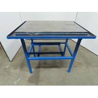 "36"" x 24"" x 37"" Tall Work Assembly Fabrication Machine Base Steel Table"