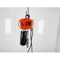 "CM Lodestar Model B 1/4 Ton 500LB Electric Chain Hoist 20'6"" Lift Tested"