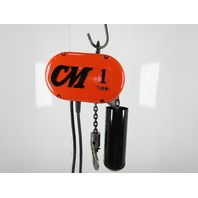 CM Lodestar Model L 1 Ton 2000LB Electric Chain Hoist 15' Lift 16FPM Tested