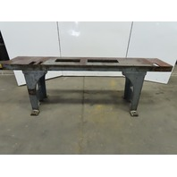 "Webbed Cast Iron Machine Base Welding Work Table Bench 89""x18-1/4""x36""H 100"" OAL"
