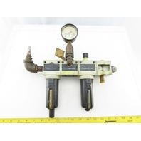 """Numatics FlexiBlok Air Filter Regulator Lubricator Assembly 1/2"""" NPT"""