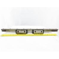 "Hyundai HT-15S Linear Guide Rails 26-3/4"" W/2 Star LY35 Bearing Blocks"