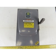 Square D  A86343 100A 600V Single Throw Disconnect Safety Switch Fusible