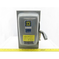 Square D  H361 Ser A2 30A 600V Single Throw Disconnect Safety Switch Fusible