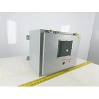 "Hoffman 20""x16""x12"" Electrical Enclosure W/Back Plate JIC"