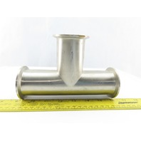 "2"" Flanged Stainless Steel Sanitary Tee"