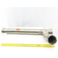 "3"" Stainless Steel Sanitary 45° Elbow On Stand Pipe 28"""