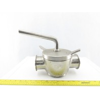 "3"" Stainless Steel Sanitary 3 Way Diverting Plug Valve"