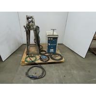 OTC 350XRS 350A MIG Welder W/CM-231 Wire Feeder/Abicor Gun & Remote Pendent