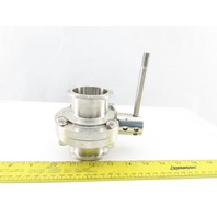 "2"" Stainless Steel Sanitary Butterfly Ball Valve"