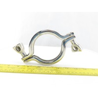 """3"""" Stainless Steel Sanitary 2 Piece Clamp Lot Of 2"""