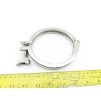 "4"" Stainless Steel Sanitary Hinged Clamp Lot Of 2"
