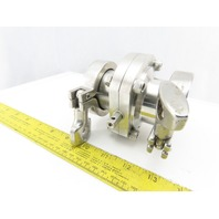 "2"" Stainless Steel Sanitary Butterfly Valve W/ Clamps"