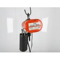 CM Lodestar Model F2 1/2 Ton 11.5' Lift 440/480V 5/16 FPM 2 Speed Chain Hoist