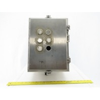"""Hoffman W-824866 16""""x12""""x8"""" Stainless Steel Electrical Enclosure W/Back Plate"""