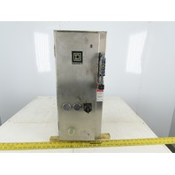 Square D 8538SCW14V81CFF4T 30A 600V 10Hp MAX Stainless Steel Combo Starter