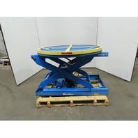 """BISHAMON 4000LB Self Leveling Lift Table 43"""" Pallet Positioner 10-1/4-30-3/4"""" Ht"""