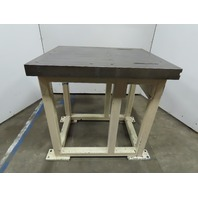 "41""x33""x41-1/2"" Steel Machine Base Welding Work Bench Table 3"" Machined Top"
