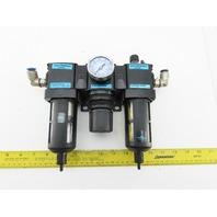"""Wilkerson F18-02-SK00 R18 L18 1/4"""" Filter Regulator Lubricator  FRL Assembly"""