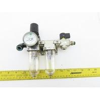 "SMC EAW2000-F02G-1-X64 Airline Filter Regulator Lubricator Quick Exhaust 1/4"""