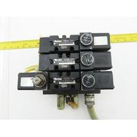 Parker 4501AF10ACAE53 4/2 Position 120V Solenoid Operated Air Valve Manifold