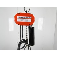 CM Lodestar Model L 1 Ton 2000LB Electric Chain Hoist 20' Lift 16FPM Tested