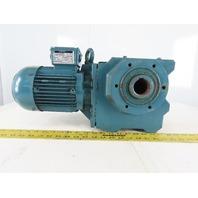 BAUER 278980-2 1Hp Gear Motor Hollow Thru Shaft 230/460V 3Ph 11.5 RPM