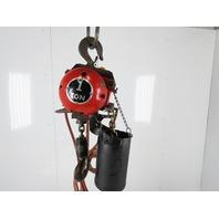 ARO 7790A-2012-C6S 1 Ton 2000LB Air Pneumatic Chain Hoist 12' Lift Tested