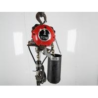 """ARO 7790A-2010-C7U 1 Ton 2000LB Air Pneumatic Chain Hoist 9'10"""" Lift Tested"""