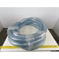 "3-1/2"" OD 3"" ID 1/4"" Thick Wall Spring Wound FDA Approved Hose 37'"