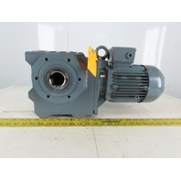 Bauer BS30-84V/D08MA4/AM 1HP Inline Gear motor 230/460V 3Ph About 150:1 Ratio