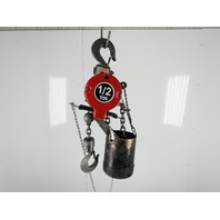 "ARO 7750D 1/2 Ton 1000LB Air Pneumatic Chain Hoist 14'2"" Lift Tested"