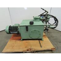 20 Gallon 9KW (12.06Hp) Hydraulic Power Unit 220/440V W/Valves
