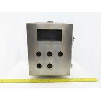 "SCE LR97418 12x10x6"" Hinged Door Stainless Steel Electrical EnclosureW/Backplate"