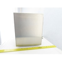 """Hoffman A12106CHNFSS 12x10x6"""" Hinged Stainless Steel Electrical Encl.W/Backplate"""