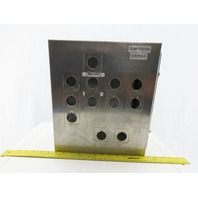 """Hoffman A-1412CHNFSS 14x12x6"""" Hinged Stainless Steel Electrical Enc.W/Backplate"""