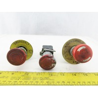 Schneider Electric ZBE-102 Red E-Stop Twist Release Push Button Lot of 3