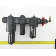 "Norgren F74G-4AD-AD1/F74G-4AD-AD0 Double Air Filter Regulator Lubricator 1/2"""