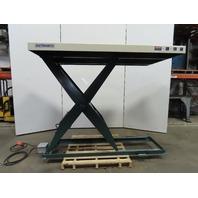 "South Worth 4000Lb Hydraulic Scissor Lift Table 86""x48"" Top 10""-71"" Lift 460V"