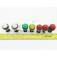 "DR22D0L Assorted Lamp Indicator Light Red, White, Yellow, Green 30V 1W 7/8""Hole"