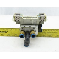 SMC SY3340-5LOZ Manifold Assembly W/2 Pneumatic Solenoid Valves