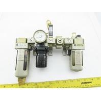 SMC AF3000-03D-X445 Regulator Filter Assembly W/AR3000-03 & AR3000-03G Assembly