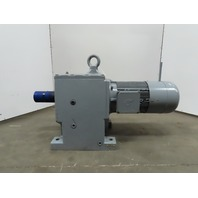 Nord SK93-160L/4BRE250HL In-line Helical Gearmotor W/Brake 123.05:1 Ratio 14rpm